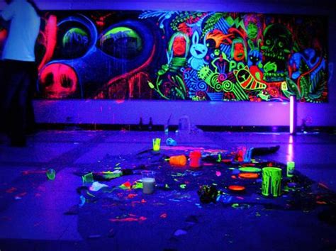 glow in the paint for my room neon room black light room and neon on