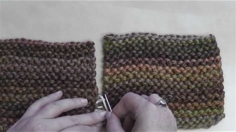 sewing knitted pieces together how to seam garter stitch