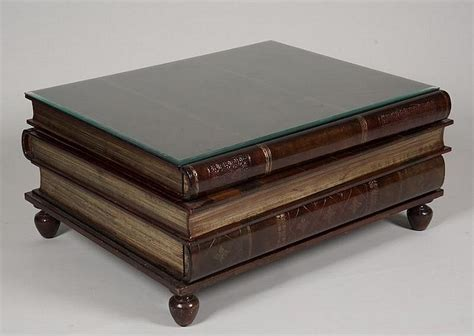coffee table picture books maitland smith stacked book form leather coffee table