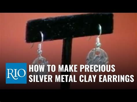 how to make silver jewelry how to make precious metal clay earrings silver metal