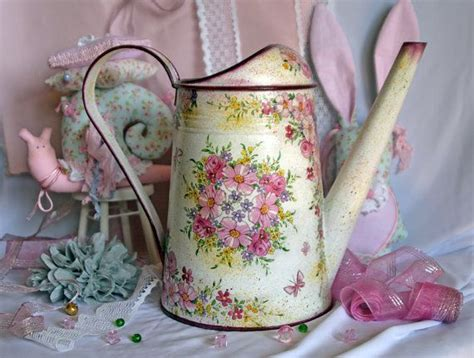 can you decoupage on metal watering can decoupage handmade