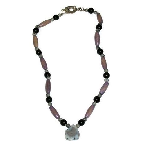 mens beaded necklaces s grey black and greyish purple beaded necklace