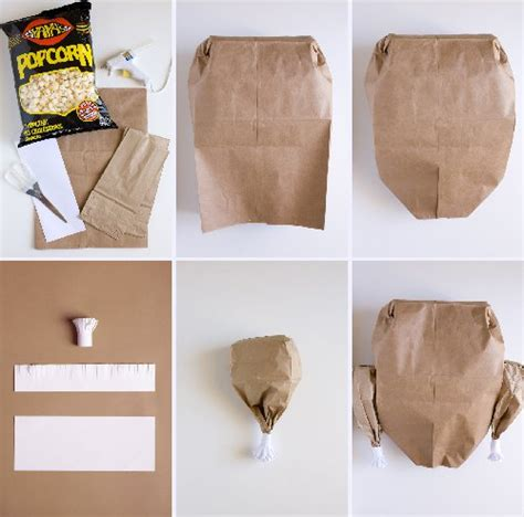 turkey paper bag craft paper bag turkey with popcorn favecrafts