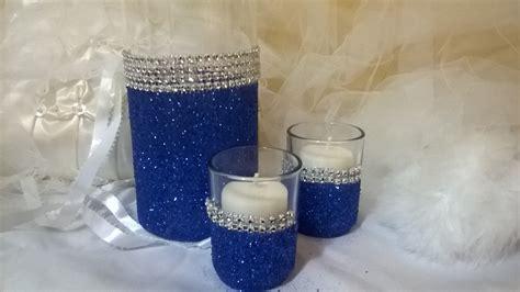 royal blue and silver centerpieces royal blue glitter vase wedding centerpiece bridal shower