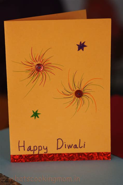 diwali cards for to make handmade cards for diwali whats cooking