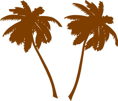 tree brown brown palm trees clip at clker vector clip