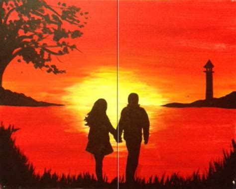 couples paint nite island the paint and sip and sunsets on