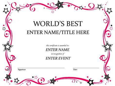 best certificate templates award certificate template pinteres