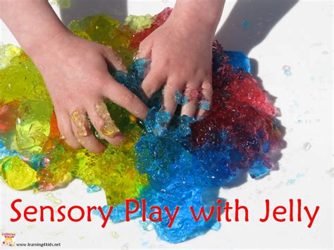 sensory crafts for sensory play with jelly learning 4