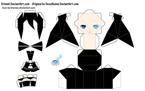 anime paper craft anime papercraft templates papercraft anime vocaloids