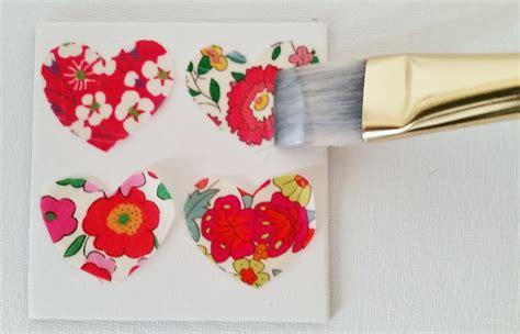 decoupage fabric on canvas fabric scrap mini canvas tutorial mad for fabric