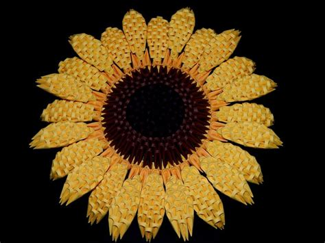 3d origami sunflower 1000 images about my 3d origami collection on