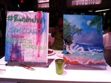 paint nite honolulu ハワイ ホノルル観光ブログ paint nite honolulu