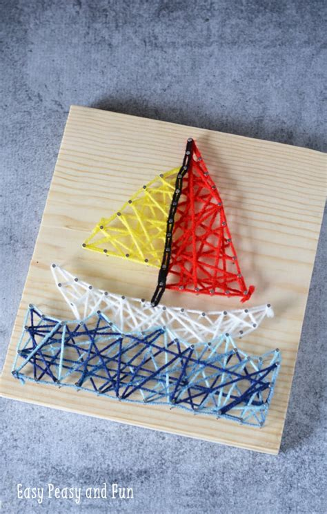 arts crafts for sailboat string for easy peasy and
