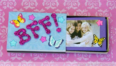 bff crafts for kid craft bff matchbox mini album running with