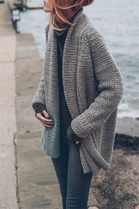 how to wear a knitted cardigan jessannkirby s cozy take on our mixed stitch open
