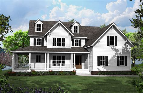 country home plans with porches 4 bed country house plan with l shaped porch 500008vv architectural designs house plans