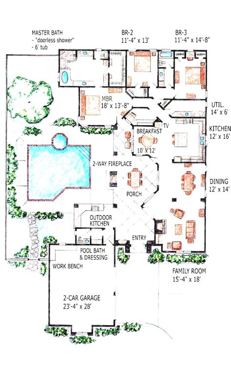 swimming pool house plans home plans pool house design ideas