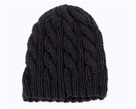 how to knit a cable beanie living the creative classic knit beanies