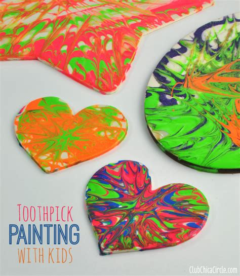 crafts for with paint toothpick painting crafts
