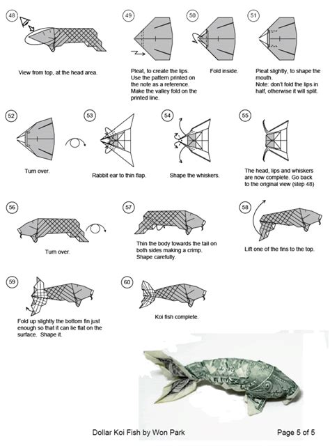 money origami koi fish dollar origami koi follow link for
