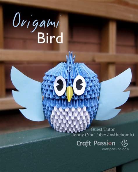 diy origami owl 3d bird origami