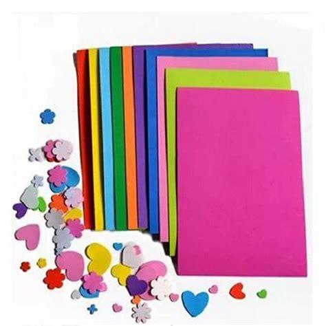 craft paper wholesale 10pcs bag diy sponge foam paper wholesale mixed color fold