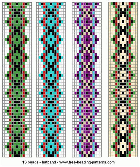 loom patterns hatband loom beadwork 001