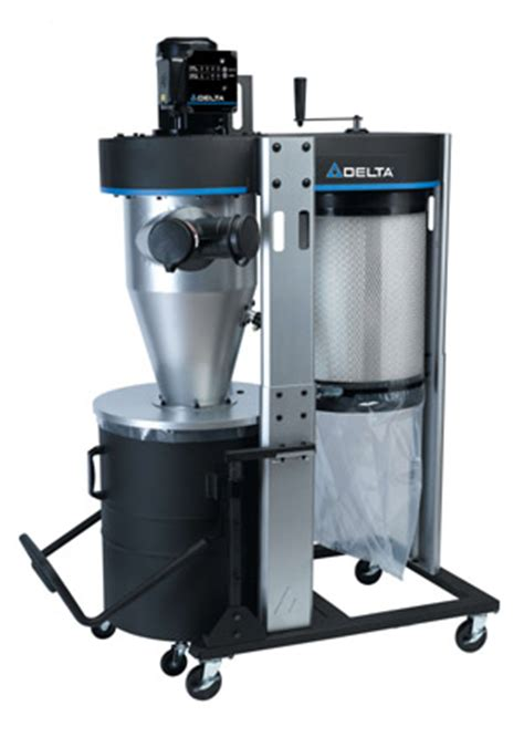 woodworking dust collection systems reviews delta 1 1 2 hp portable cyclone dust collector preview