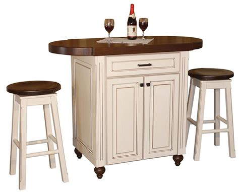 Solid Wood Kitchen Island Cart amish heritage pub kitchen island with stools