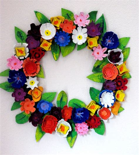 craft projects with egg cartons make an egg wreath 187 dollar store crafts