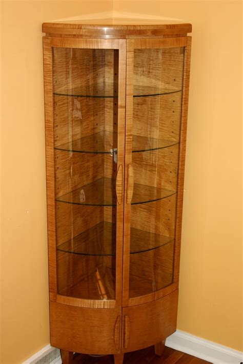 corner curio cabinets handmade corner curio cabinet by whim wood custom furniture custommade