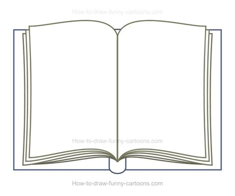drawing book pictures how to draw a book
