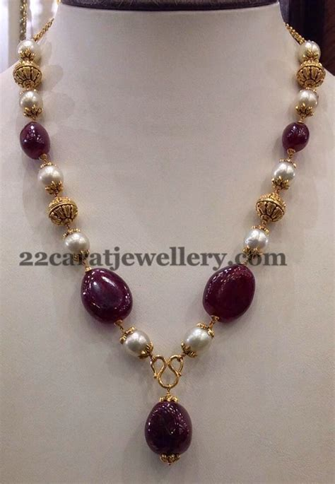 simple beaded necklace designs jewellery designs 25gms simple sets gallery