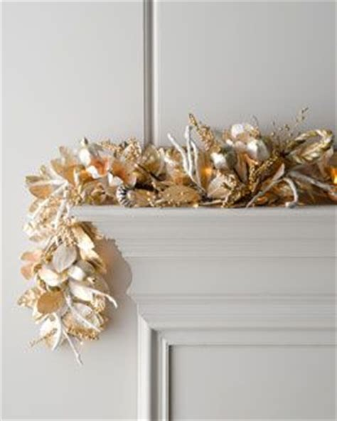 pre lit fireplace garland quot chagne quot pre lit garland for fireplace