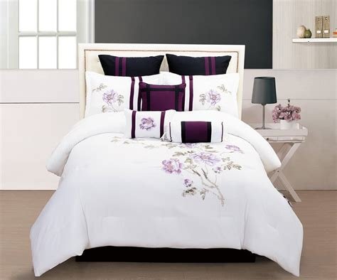comforter sets bedding total fab purple black and white bedding sets drama uplifted