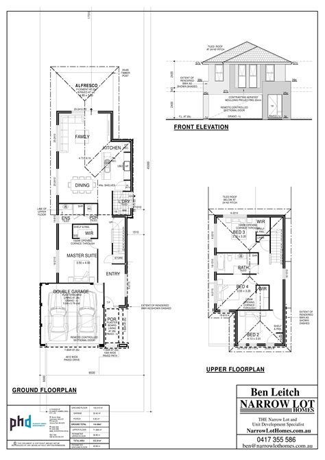 narrow lot home designs narrow lot house plans perth numberedtype