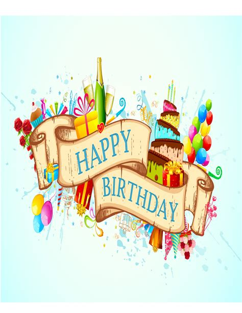 birthday card 40 free birthday card templates template lab