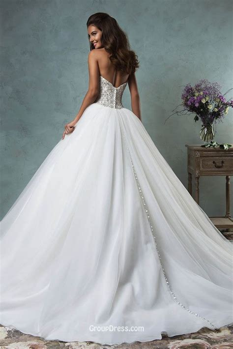 sparkly beaded wedding dresses strapless sweetheart sparkly beaded tulle gown