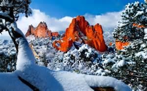 Garden Of The Gods Winter Garden Of The Gods Colorado Usa Winter Nature