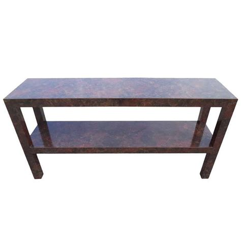 parsons sofa table parsons sofa table with faux tortoise shell laminate for