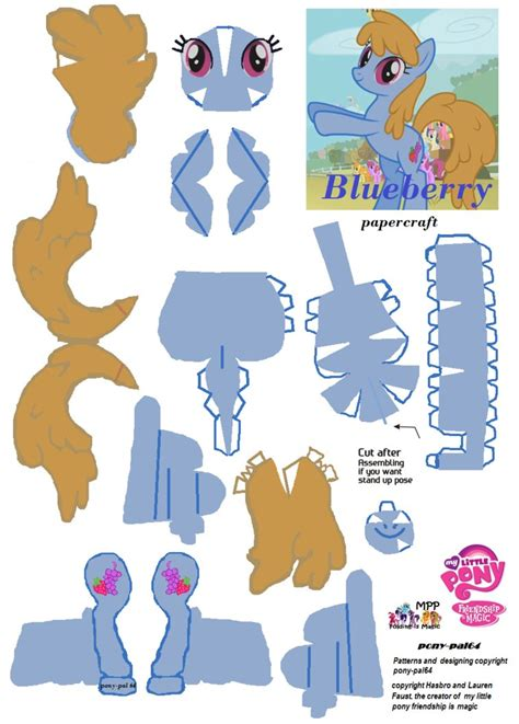 my pony paper crafts blueberry papercraft by pony pal64 on deviantart