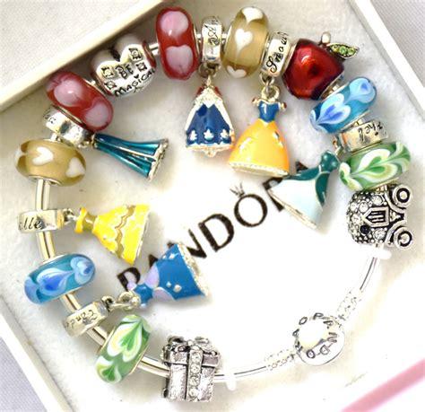 disney and charms pandora 925 bangle charm bracelet and european charms