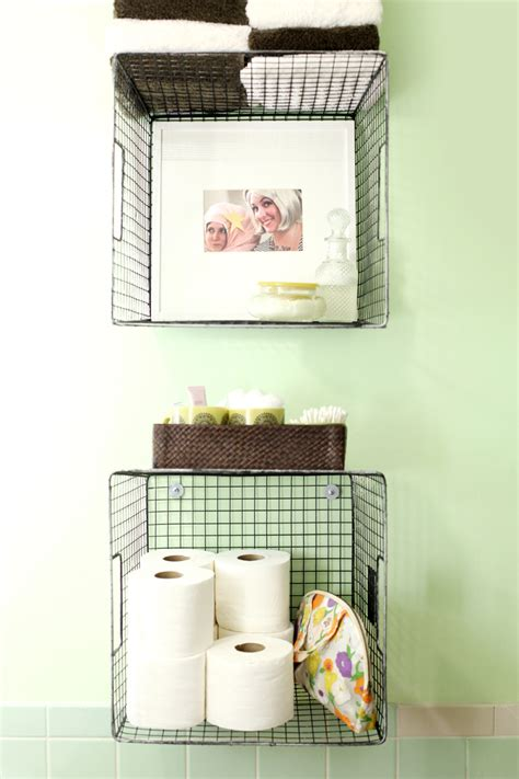 bathroom hanging storage try this hanging baskets for bathroom storage a