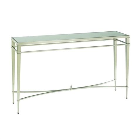 what is sofa table hammary mallory sofa table in brushed nickel 173 925