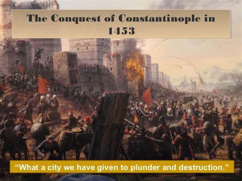 ottomans conquered constantinople ottoman empire