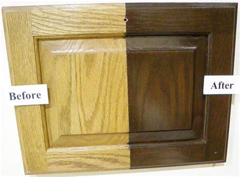 how to refinish oak kitchen cabinets refinish oak cabinets darker roselawnlutheran