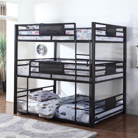 bunk beds furniture coaster bunks metal bunk sol furniture