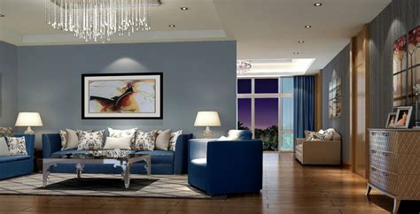 blue sofa in living room modern living room interior decorating ideas with blue