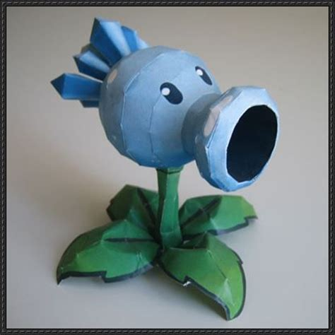 plants vs zombies paper crafts new paper craft plants vs zombies snow pea free